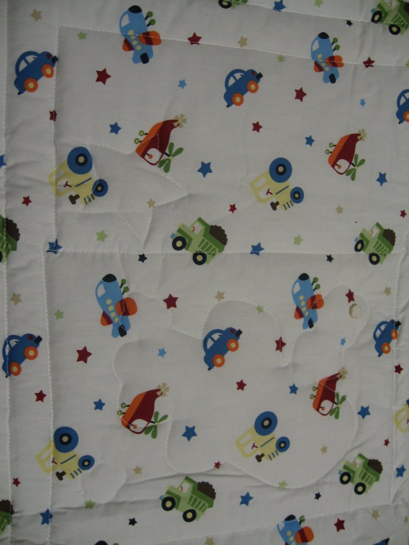 Image 1 of Transportation tractor Car Helicopter truck Child blanket crib Quilt for a boy