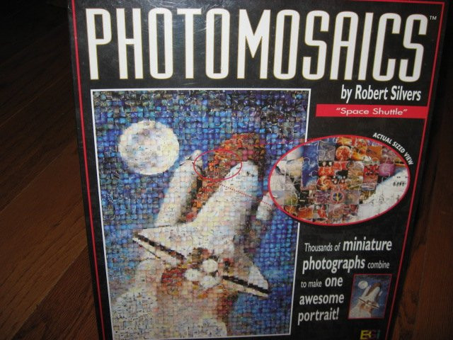 Image 0 of Space Shuttle rocket Photomosaics 1000 pc  jigsaw puzzle Robert Silvers Rare new