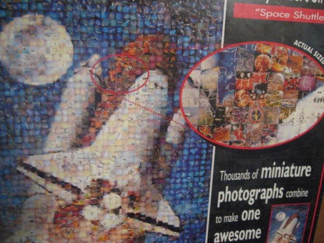 Image 1 of Space Shuttle rocket Photomosaics 1000 pc  jigsaw puzzle Robert Silvers Rare new