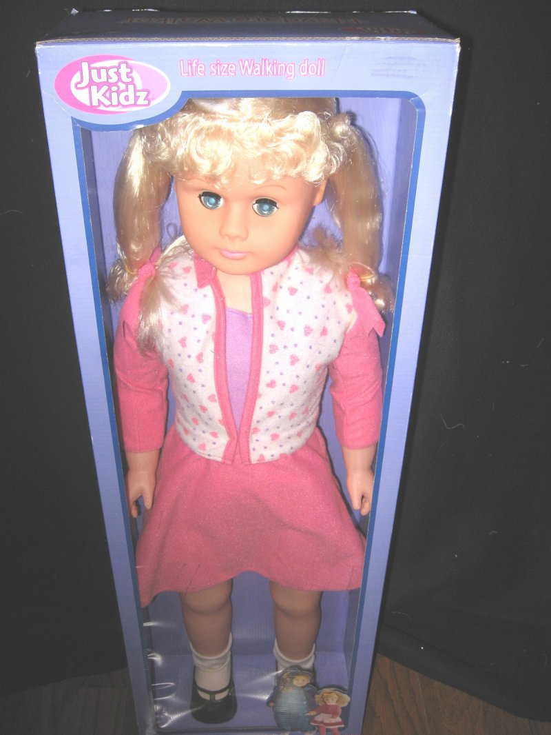 Blond Walker doll 30 tall  Just Kidz Play Date Brand new age 3 and up