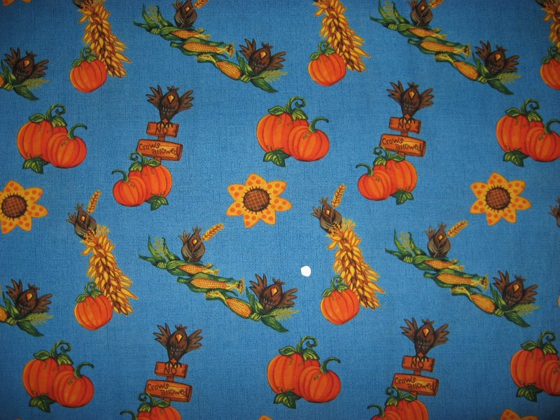 Image 1 of Daisy Kingdom Halloween Harvest Scarecrow and backing fabric to sew
