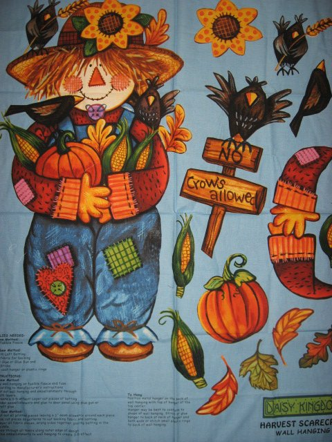 Daisy Kingdom Halloween Harvest Scarecrow and backing fabric to sew
