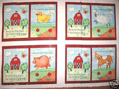 Old Macdonald Had A Farm Baby Soft Book Soft Book Fabric