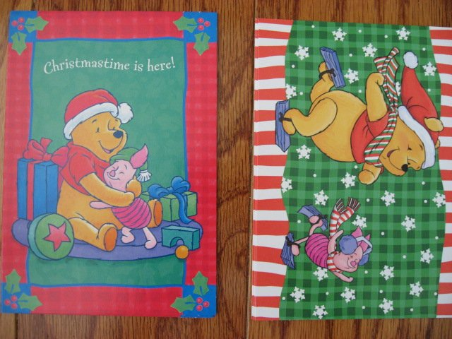 Image 1 of Lot of 24 Winnie the Pooh one box Assorted Holiday Christmas cards and envelopes