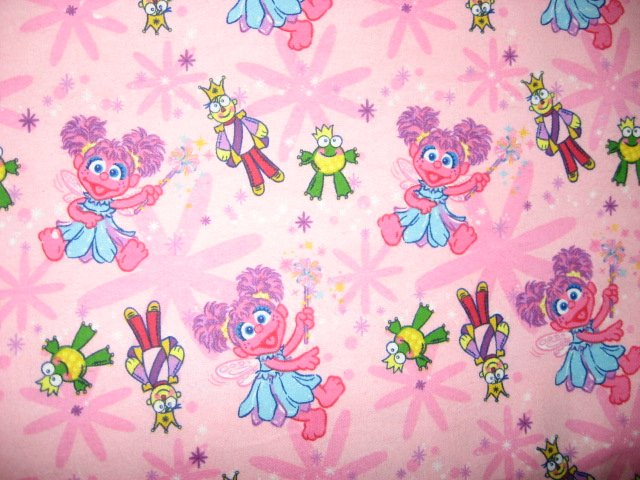 Sesame Street Abby Cadabby Princess Girl 1/4 Yard  Flannel Fabric Rare FQ
