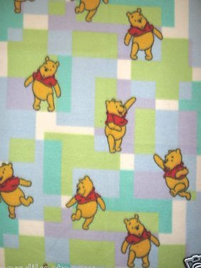 Image 0 of Pooh Fleece blanket  toddler 30 inches by 44 inches