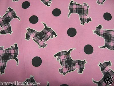 Image 0 of Scottie Terrier Dog Baby receiving or Pet PLAID Flannel Blanket with dots