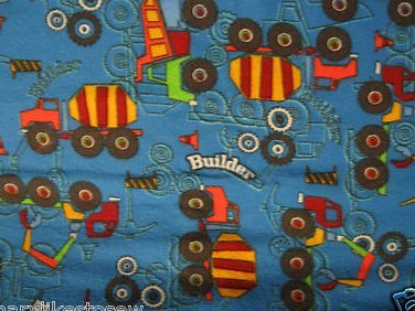Construction cement dump truck Flannel baby blanket or toddler daycare blanket