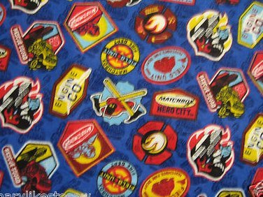 Fire fighter insignia badges Baby receiving or Toddler Nap Flannel Blanket