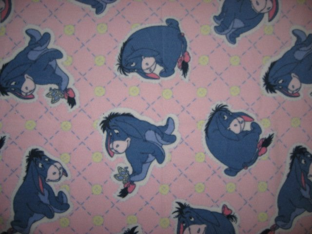 Disney Eyore donkey and butterfly baby blanket Handmade with licensed fleece