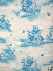 Winnie Pooh Piglet  toile fleece baby blanket Handmade with licensed fleece