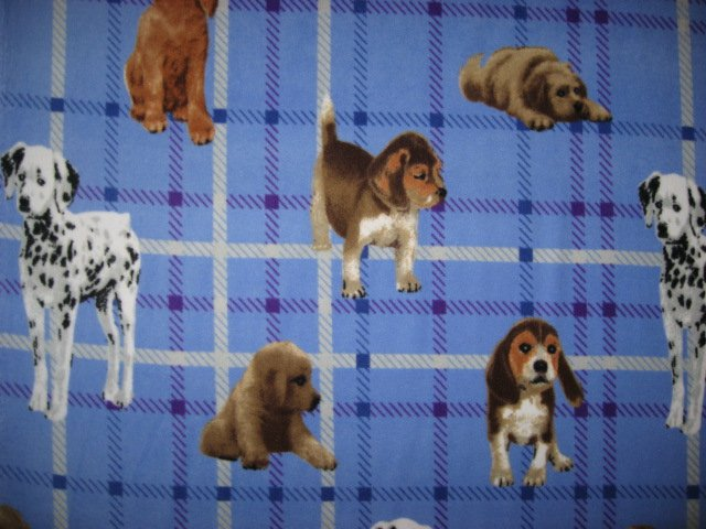 Image 0 of Dalmatian and Puppy Dogs or Baby size or toddler drag along fleece blanket