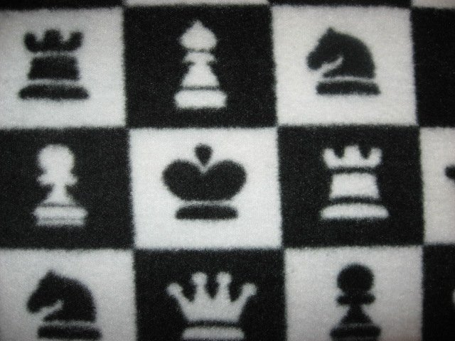 Image 1 of Chess pieces fleece blanket
