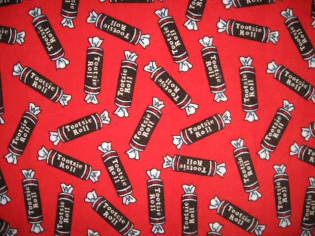 Image 0 of Tootsie Rolls Candy  baby blanket or for toddler Handmade with licensed fleece