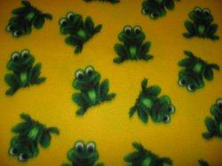 Green Frog 29x36 yellow fleece baby blanket