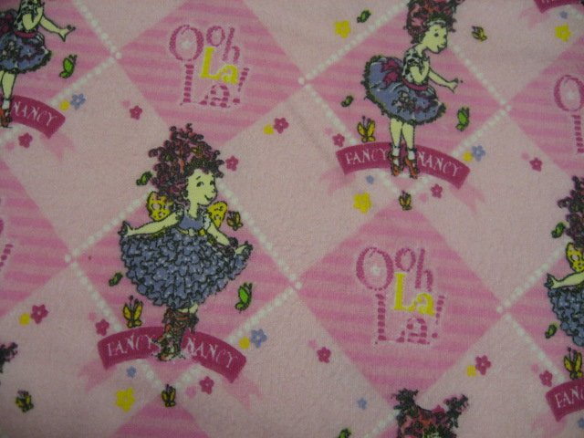 Image 0 of Fancy Nancy in ballet dress and slippers handmade Flannel baby Blanket