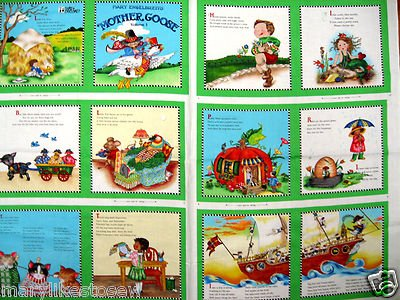 Mary Engelbreit Mother Goose Nursery Rhymes Fabric baby soft book Vol 3 green