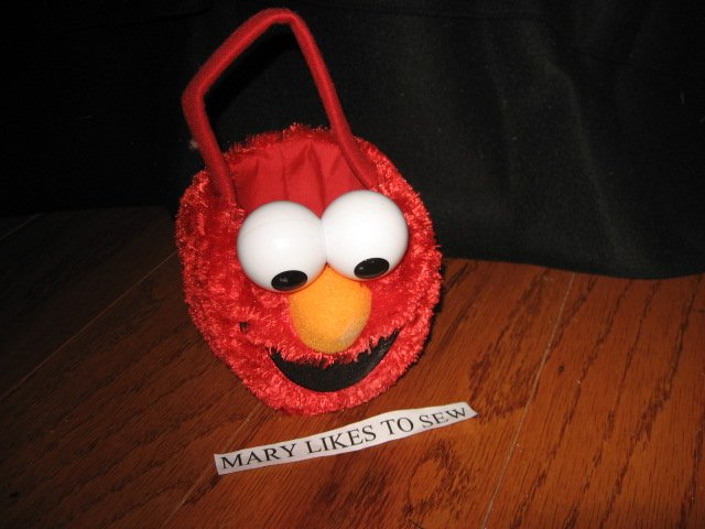 Sesame street 2008 Elmo Small toddler Halloween treat tote
