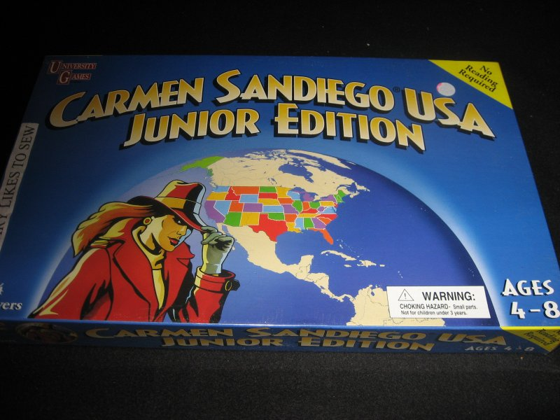 Carmen Sandiego USA Junior edition game New in box