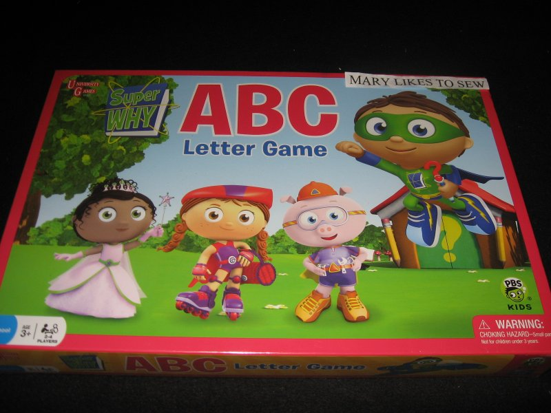 Super Why A B C Letter game New in box