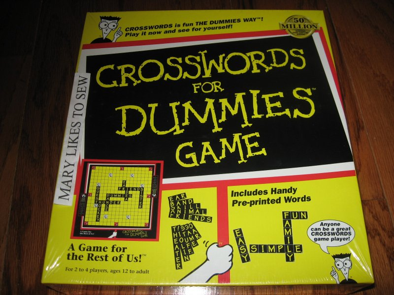 Crosswords for dummies game New in box 1998