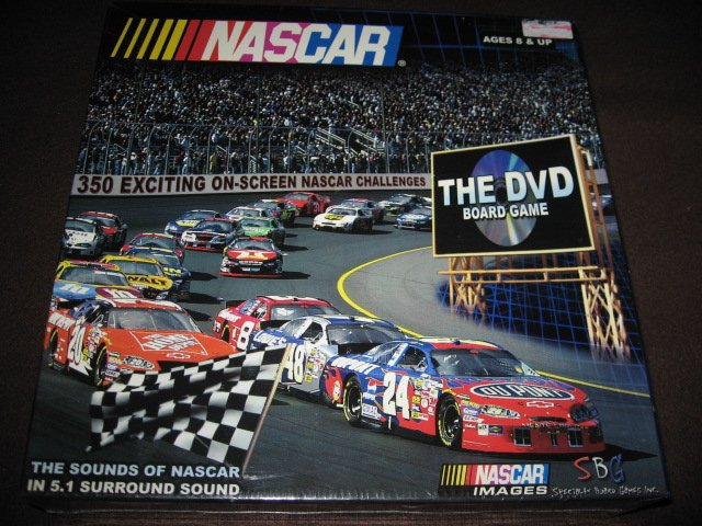 Nascar the DVD board game 2005 New in sealed box 2005