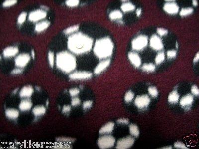 Image 0 of Soccer balls maroon Fleece blanket