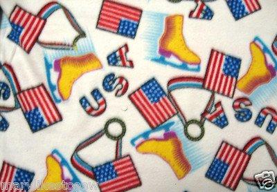 Image 0 of Olympics USA Ice Skating Skates Medal handmade Fleece Large blanket