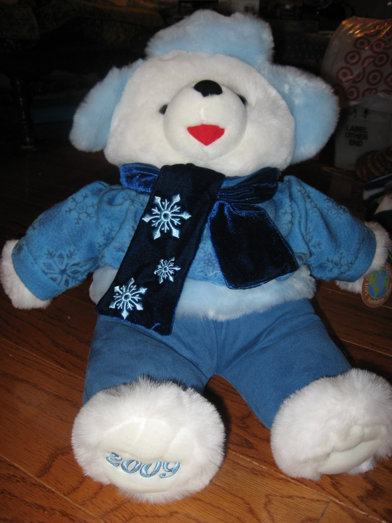 Christmas Snowflake Teddy Bear plush new collectible 2009 20