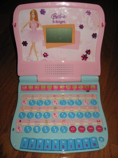Barbie B Bright learning child's educational laptop computer