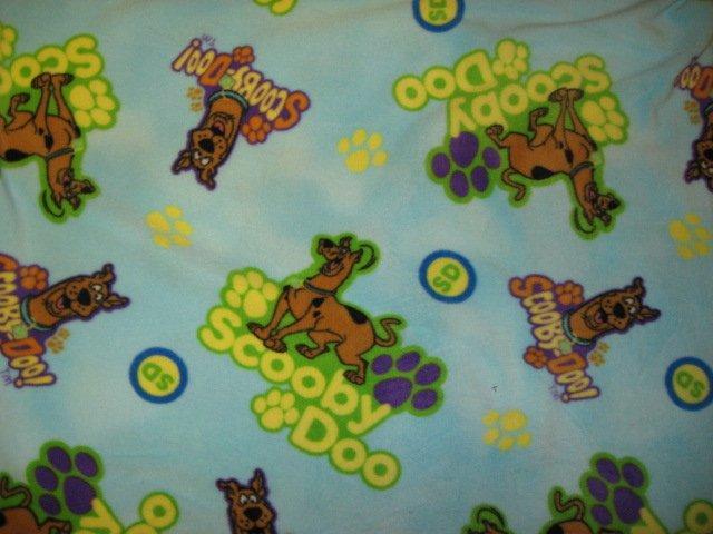 Image 0 of Scooby Doo Handmade Blue fleece baby blanket /