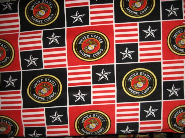 Image 0 of United States Marines Military overall print Fleece Blanket