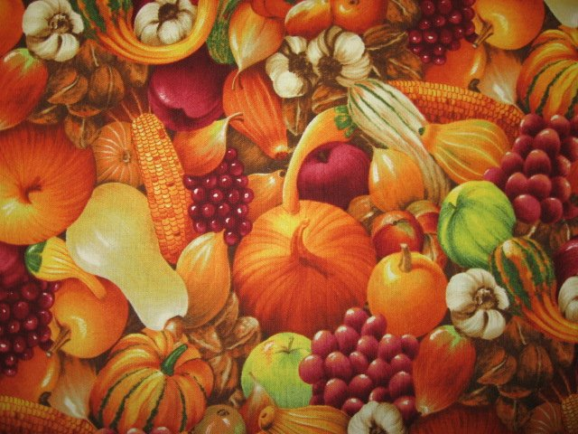 Fruit and Vegetables Kyle's Marketplace Quilt Fabric Fat quarter or 1/4 yard