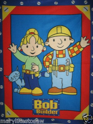 Bob the Builder + Wendy Child bed size licensed handmade fleece blanket 46X58