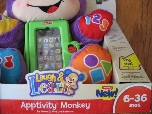 Image 2 of Fisher-Price Apptivity Monkey for iPhone and iPod touch devices