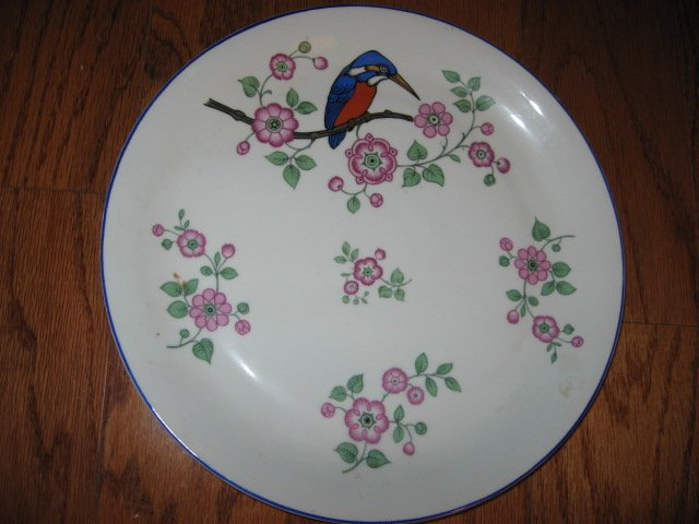 Bavarian china Bird wall collector plate 12 diameter