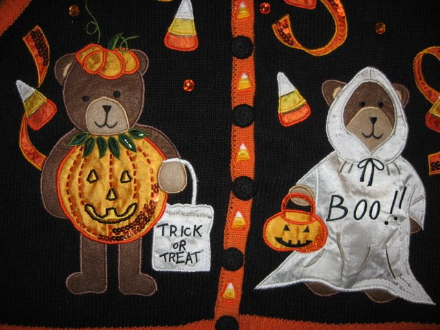 Image 1 of A-1 Halloween teacher gift embroidered vest new adult size large