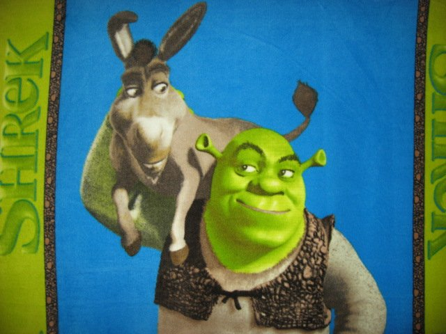 Image 1 of Shrek Donkey  licensed handmade fleece blanket 48