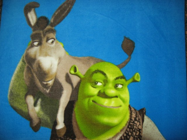 Image 2 of Shrek Donkey  licensed handmade fleece blanket 48