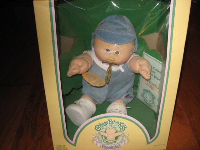 Vintage Cabbage Patch Preemie Doll Ken Torey 1983 Never removed from thel box