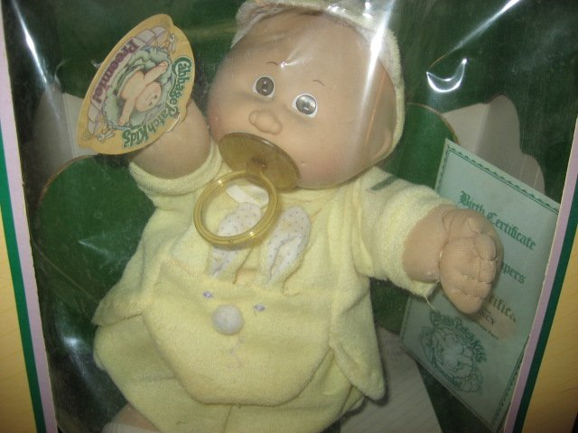 Image 1 of Cabbage Patch Preemie Doll Wes Quincy 1983 Never removed from the original box
