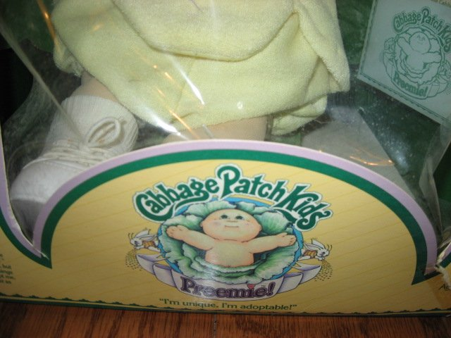 Image 2 of Cabbage Patch Preemie Doll Wes Quincy 1983 Never removed from the original box