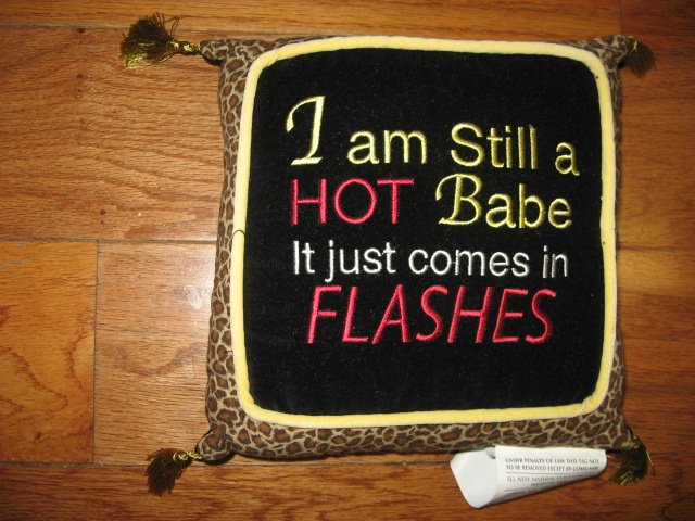 Image 0 of I'm still a hot babe Funny tapestry pillow with tassels 8