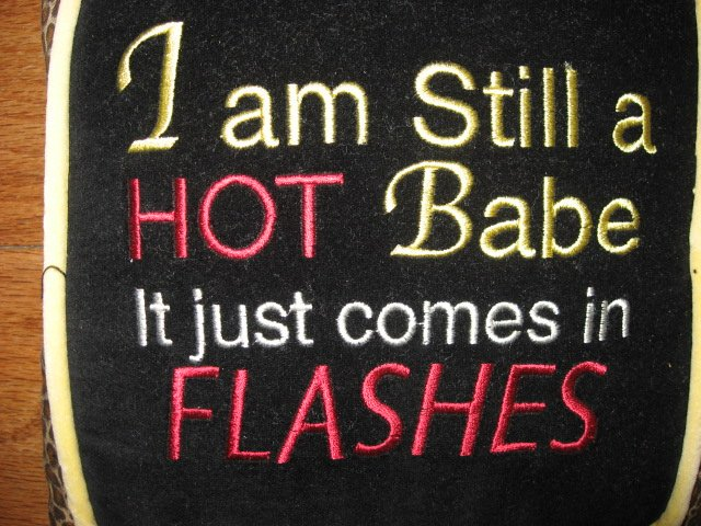 Image 1 of I'm still a hot babe Funny tapestry pillow with tassels 8