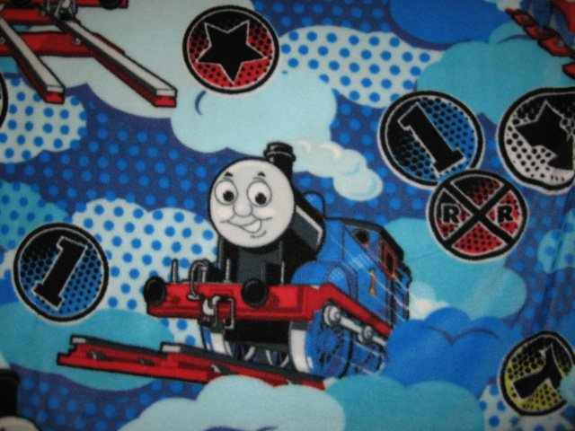 Image 0 of Thomas the Train Blue antipill soft Child bed size fleece blanket throw