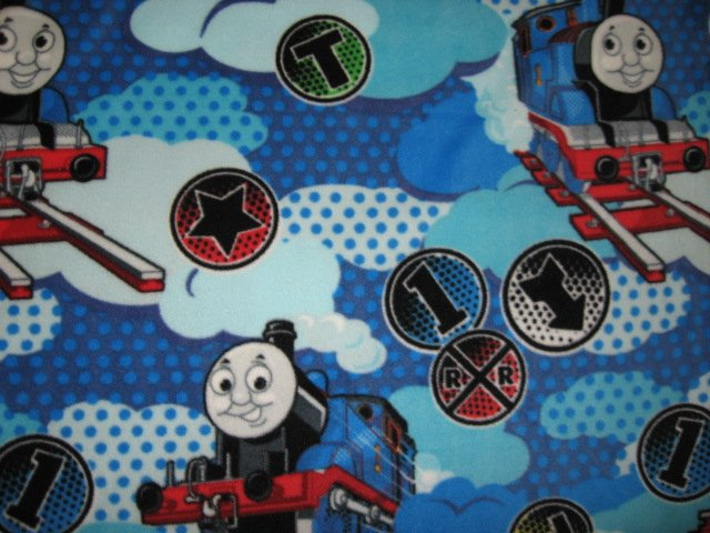 Image 1 of Thomas the Train Blue antipill soft Child bed size fleece blanket throw