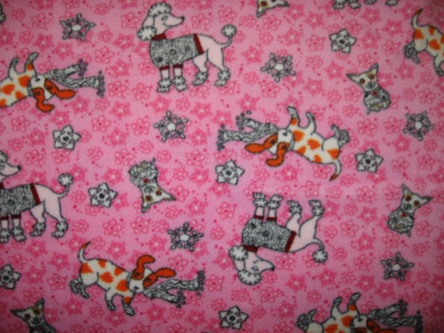 Poodle Dog whimsical fleece blanket for pet crate dog cat ferret