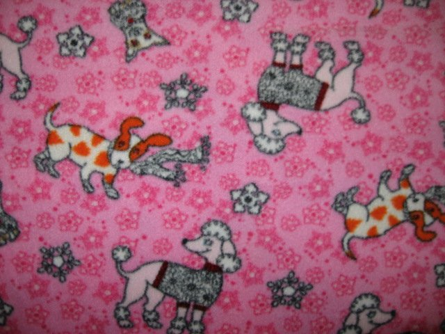 Image 1 of Poodle Dog whimsical fleece blanket for pet crate dog cat ferret