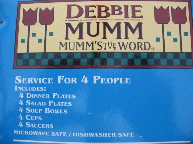 Image 2 of Debbie Mumm Sakura 20 Piece Snowmen 1997 Stoneware Set