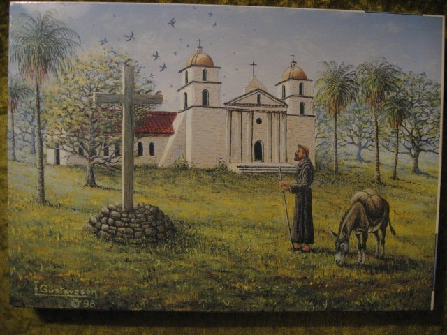 Image 0 of Saint Francis and Burro Religious Franscian Missions 500 pieces sealed  Puzzle